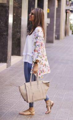 Colored Kimono Casual Style