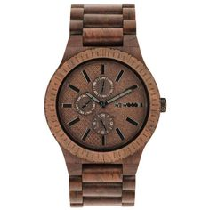 WeWood Wooden Watch - Kos Chocolate (wwood801KC) (230 CAD) ❤ liked on Polyvore featuring jewelry, watches, wooden jewelry, wood jewelry, wooden wrist watch, wooden watches and wewood