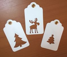 Christmas Tags hand made by me!