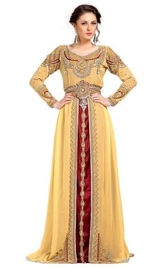 c2ebedac468  Kilam -  Kilam Contemporary Rich Beige Embroidered Moroccan Wedding Kaftan-Final  Sale -