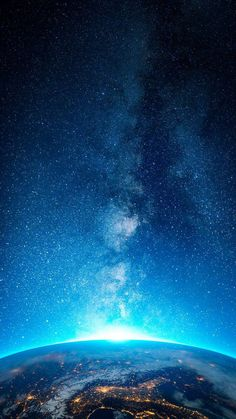 Starry Earth View - iPhone Wallpapers