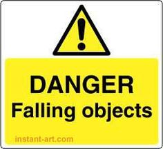 danger falling objects £0.99p #signs #warning