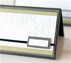 Impress the guests with these beautifully embossed place settings!