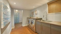 Check out this home's laundry room - now a clean, inviting space.