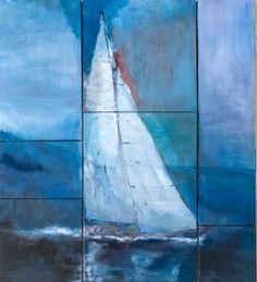 "Saatchi Art Artist Laura Beatrice Gerlini; Painting, ""The sailing yacht"" #art"
