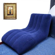 Air Inflatable Flocked Relax Lounger Sofa Rest And Relaxation, Happy Trails, Sofa, Couch, Floor Chair, Furniture, Home Decor, Products, Settee