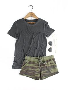 The Camo Short – The Rollin' J | comfy | cute | shorts | athleisure | drawstring waistband | comfortable | Camo print | spring style | summer style | spring | summer | therollinj.com