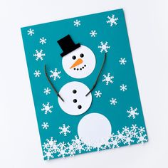 How to Make Easy Paper Snowman Art