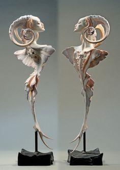 Art Sculpture, Sculptures, Modern Sculpture, Toy Art, Creature Design, Art Plastique, Art Inspo, Amazing Art, Art Dolls