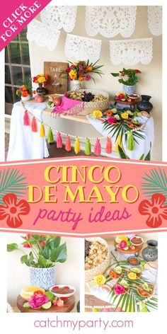 Check out this fun Cinco de Mayo fiesta! The dessert table is fabulous! See more party ideas and share yours at CatchMyParty.com Summer Birthday, Birthday Parties, Party Drinks, Party Favors, Party Themes, Party Ideas, Garden Cakes, Summer Cakes, Painted Wood Signs