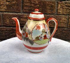 Vintage 1950s Suzuki Porcelain Japanese Teapot by AnchorLineVintage on Etsy
