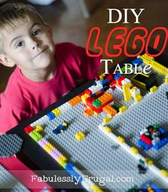 Learn how to make this quick and easy Lego table in under 10 minutes for around $30!  http://fabulesslyfrugal.com/2012/08/diy-lego-table-picture-tutorial.html