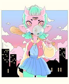 Demon girl - My original character / OC ! (GHOULKISS)