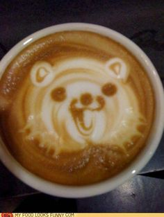 coffee art <--- that looks like pedobear I wouldn't drink that if I were u could be roofied