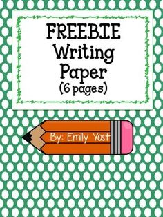 Here are 6 different writing papers! 2 are lined paper, 2 have a title box with lines, and 2 have a picture box with lines. All with a cute border :)  If you download, please follow my store and leave feedback! Thanks!