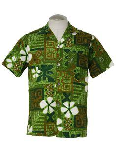 vintage aloha shirts of hawaii | Vintage Hawaiian Shirt: 60s -Royal Hawaiian Made and Styled in Hawaii ...