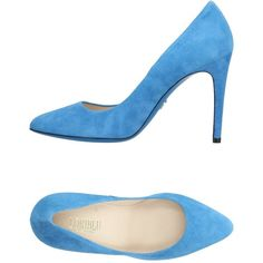 Loriblu Court (935 RON) ❤ liked on Polyvore featuring shoes, pumps, azure, leather footwear, real leather shoes, loriblu shoes, stilettos shoes and stiletto heel shoes