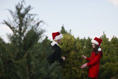 We're going to kick off this holiday weekend with a festive engagement session from joielala photographie . For this stylish, Christmas-loving, argyle-sock wearing groom what better place to share a. Engagement Photography, Engagement Session, Christmas Tree Photography, Christmas Engagement, Christmas Love, California Wedding, Holiday Decor, Pretty, Weddings