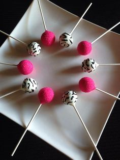 Zebra & Hot Pink cake pops!!