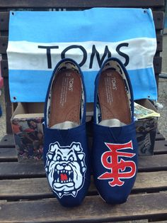 Customized women's Toms in Fresno State Bulldogs theme size 8 available for sale $125