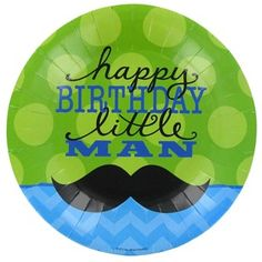 Bag-of-Chips Small Happy Birthday Little Man Plates   Shop Hobby Lobby