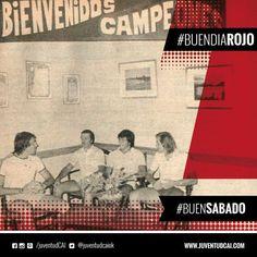 #BuenDiaRojo, #BuenSabado! Rigante,Pérez,Outes y Trossero en un hotel de Necochea donde se hacía la pretemporada.