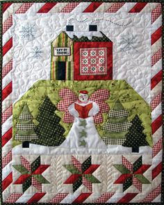 Angel's Winter wishes wall hanging pattern by Arlene Stamper at Quilt Company