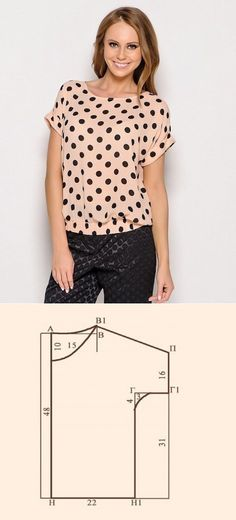 The tailor • Sewing, alterations - is easy! A blouse with a short sleeve. Pattern, description of sewing // Taika