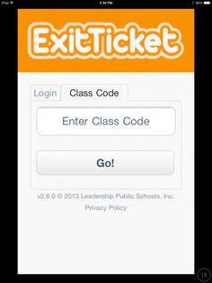Kids logga in med en särskild klass-kod. App Of The Day, Common Sense, Educational Technology, Privacy Policy, Public School, Leadership, Classroom, Coding, Learning