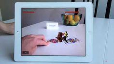 Vuforia + Unity3D Augmented Reality Demo - Ninja and Bear fighting