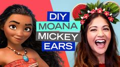These DIY Moana-inspired Mickey Ears are perfect for your next adventure. Diy Mickey Mouse Ears, Mickey Mouse Nail Art, Mickey Nails, Diy Disney Ears, Disney Mickey Ears, Moana Crafts, Disney Crafts, Cute Disney Shirts, Disneyland Ears