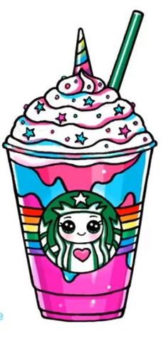 Kawaii Starbucks Einhorn: Starbucks - A R T ● Sketch 365 Kawaii, Arte Do Kawaii, Kawaii Art, Kawaii Stuff, Kawaii Anime, Unicorn Drawing, Unicorn Art, Cute Unicorn, Cartoon Unicorn