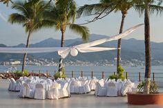 Banquet Set Up At The Melia Puerto Vallarta