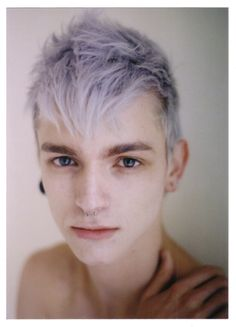 lilac hair (he reminds me of Jack Frost!)