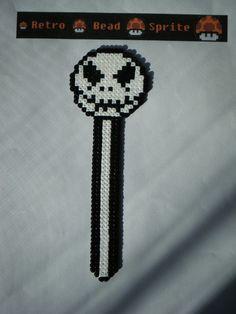 Jack Skellington bookmark hama mini beads (13 cm) by  retro-bead-sprite
