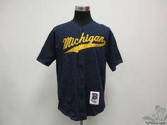 Vtg Boa Michigan Wolverines Button Up Soft Baseball by TCPKickz