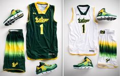 2012-13 USF Basketball Uniforms...Under Armour did a marvelous job here! Can't wait to see them in action!