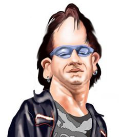 Bono by Celebrity caricatures -