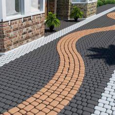 2 Pcs Plastic MOLDS For Concrete Garden Stepping Stone Path Patio MOULDS  CEMENT | Plastic Molds, Stepping Stone Paths And Garden Stepping Stones