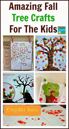 Amazing Fall Tree Crafts For The Kids: kids  co-op 10-3 by FSPDT