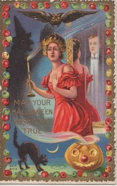 Lady in red, candle