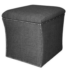 Davidson Storage Ottoman in Herringbone Onyx from the Details Magazine event at Joss and Main!