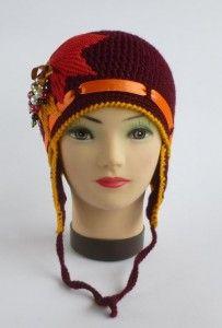 Çiçek Süslemeli Kahve Rengi Şapka Yapımı