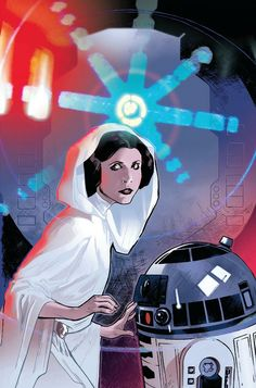 Star Wars: Princess Leia and R2-D2