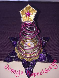 Christbaum auf Teelichtstern Capsule, Bangles, Jewelry, Hand Crafts, Navidad, Noel, Xmas Trees, Bricolage, Random Stuff