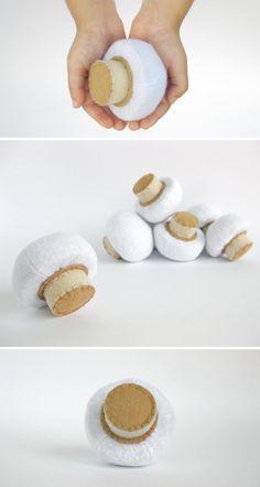 Feutre alimentaire champignon 1 pc réaliste jouet prétendre