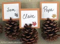 7.  Free Printable Thanksgiving Place Cards