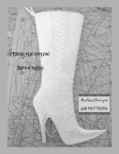 High Heel Stiletto Christmas Stocking PDF by arkathwyn on Etsy, $9.95