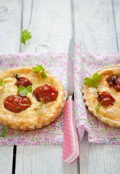 Goat Cheese and Roasted Tomato Mini Quiches  | Mitt Skafferi, July 2013 [Original recipe in Swedish]