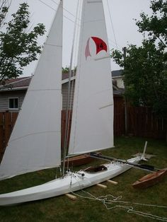 Picture of How to build a sail boat from a kayak.